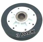 3 Pk Dryer Drum Roller For Maytag Amana Speed Queen Ap4046756 37001042