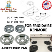 Stove Drip Pan Covers Set For Frigidaire Kenmore Electric Burner Cook Top Bowl