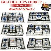 Top 23 30 34 3 4 5 6 Burners Built In Stove Lpg Ng Gas Cooker Steel Cooktops