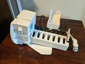 Ge Refrigerator Ice Maker Part Wr30x10061 For Parts Or Repair No Heat
