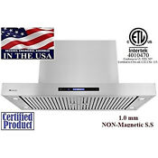 Xtremeair Px06 I48 48 Inch Range Hood In Stainless Steel With Baffle Filters
