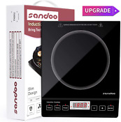 Sandoo Induction Cooktop 1800w Portable Electric Burner Stove Safety Single Bu