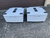 2 Samsung 27 Washer Dryer Pedestals White We357a0w Xaa Indiana Pickup Only