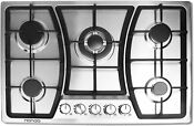 30 Inches 35inch Gas Cooktop 5 Burners Gas Stove Cooktop For Natural Gas Only