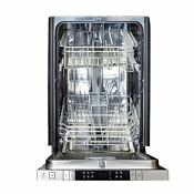 18 In Top Control Dishwasher In Stainless Steel With Stainless Steel Tub And