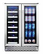 Phiestina Wine And Beverage Refrigerator 24 Inch Built In Dual Zone W Control