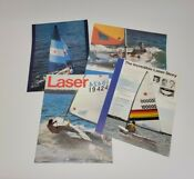 Vintage Late 1970s Early 1980s Laser Sailboat One Page Brochure Set