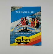 Early 80s Camp Ways The Blue Line Raft Brochure Vintage Whitewater Equipment