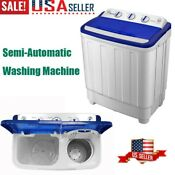 Portable Washing Machine With Twin Tub 16 6 Lbs Washer Spin Dryer Dorm Apartment