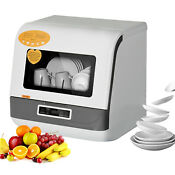 Portable Countertop Dishwasher 3d Cyclone Spray Cleaning Air Dry Function Rv