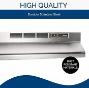 Broan Nutone 413004 Non Ducted Ductless Range Hood 30 Inch Stainless Steel