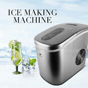 Portable Ice Maker Machine Cube Icemaker Top Countertop Compact 26 Lbs Per Day