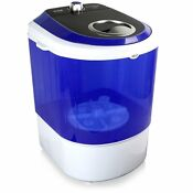 Pyle Pucwm11 Compact Portable Washing Machine With Mini Laundry Clothes White