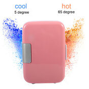 Pink Portable Mini Fridge Cooler And Warmer 4l Ac Dc Mini Refrigerator Sw