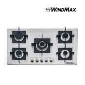 Brand 35 5 Stainless Steel Built In 5 Burner Stove Gas Hob Cooktop Cooker Top