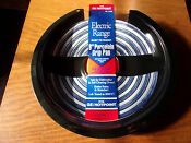 Qty 2 Stanco Range Drip Pan Fits G E Hotpoint Blk Porcelain On Steel Chro 8in