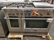 New Out Of Box Dcs 48 Inch Dual Fuel Stainless Range 5 Burner Large Griddle