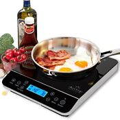 Duxtop Lcd 1800 Watt Portable Induction Cooktop Countertop Burner Safe To Use