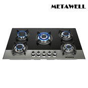 Eurostyle 35 5 In Coated Glass 5 Burners Built In Stove Ng Gas Cooktop Cooker