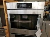 Bosch Benchmark Series 30 Single Wall Oven Stainless Steel Side Opening Door