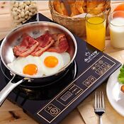 1800w Portable Induction Cooktop Countertop Burner Gold Us Stock