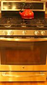 Range Oven Ge Profile Series P2b940sejss 5 6 Ft Dual Fuel Convection