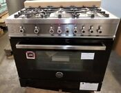 New Out Of Box Black Bertazzoni 36 Dual Fuel Range 6 Burners