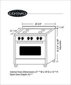 Cosmo 30 Free Standing Dual Fuel Range