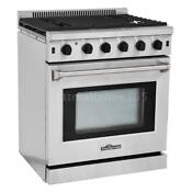 Thor Kitchen Professional 30 Stainless Steel 5 Burners Gas Range Gas Oven E8m2