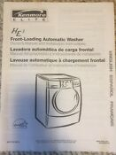 Kenmore He3 Washer Owner Manual