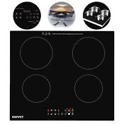 Kuppet 4 Burners Built In Induction Portable Electric Cooker Cooktop Touch Panel