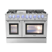 48 Thor Kitchen Gas Range Hrg4808u Double Oven Stainless Steel 6 Burners Cooker