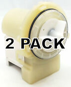 2 Pk Clothes Washer Water Pump For Lg Ap5328388 Ps3579318 4681ea2001t