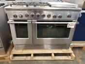Fisher Paykel 48 Stainless Steel Gas Range 5 Burners With Griddle