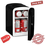 Portable 6 Can Mini Car Fridge Insulated Thermoelectric Cooler Warmer Ac Dc New