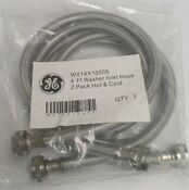 Wx14x10005 Ge 4 Ft Stainless Steel Washer Inlet Hose 2 Pack Hot Cold