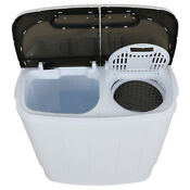 2 In 1 Portable Compact Mini 13lb Twin Tub Washer And Dry Spin Laundry Machine