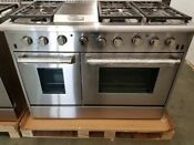 Thor Kitchen Stainless Steel 48 Range 6 Burner Griddle Stainless Knobs