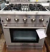 New Out Of Box Thor Kitchen 30 Dual Fuel Range 4 Burners Stainless Steel