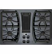 Ge Profile Series 30 Built In Gas Downdraft Cooktop Black