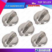 5 Pack Wb03t10284 Oven Electric Range Burner Knobs For Ge 1373043 Ap4346312 Usa