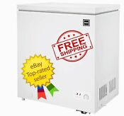 Rca 7 1 Cu Ft Chest Freezer Adjustable Thermostat White Black Free Shipping