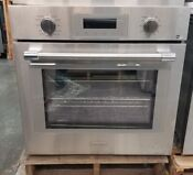 Thermador Professional Series 30 Single Wall Oven Gray Glass On Stainless Steel