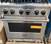 Out Of Box Viking 30 Dual Fuel Range With Convection Oven Stainless Steel