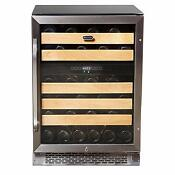 Whynter 46 Bottle Wine Refrigerator Dual Temperature Zone Built In New