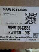 Fsp Whirlpool W10143586 Washer Switch Dispenser Washing Machine
