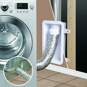 Wall Recessed Laundry Dryer Tubing Exhaust Reduce Lint Vent Box Duct