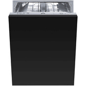Black Smeg Fully Integrated Dishwasher Model Stu8249 7080