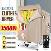 1500w Foldable Electric Clothing Clothes Dryer Drying Heater Machine Portable
