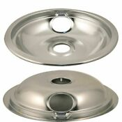 W10196405 8 Drip Bowl Chrome Drip Pan For Whirlpool Range 74001213 Wpw10196405